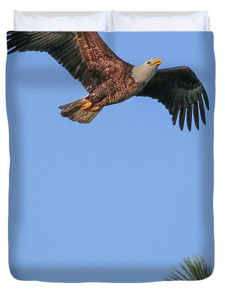 Airborne Eagle Duvet Cover