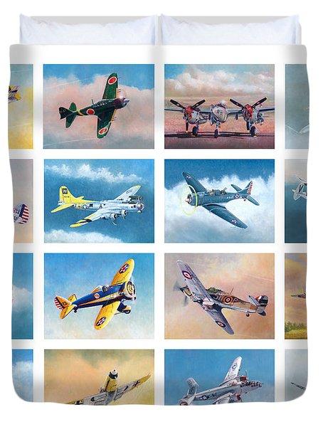Airplane Poster Duvet Cover