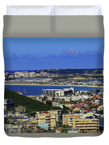 Duvet Cover featuring the photograph Airport by Tony Murtagh