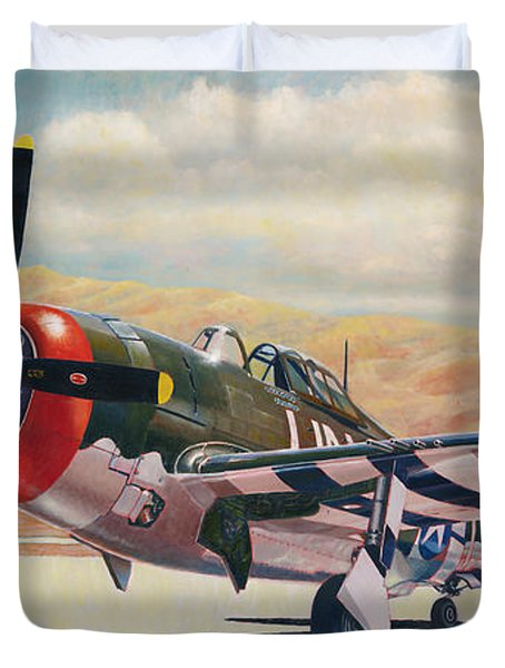 Airshow Thunderbolt Duvet Cover