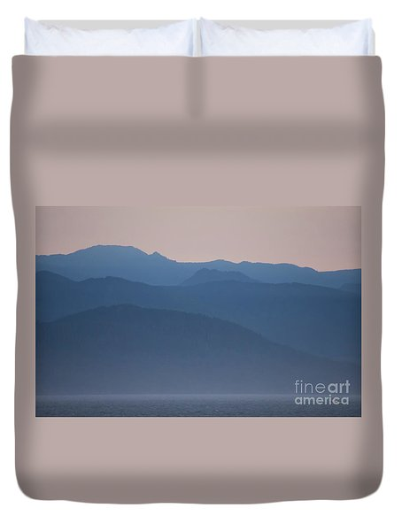 Alaska Inside Passage Mountains Duvet Cover