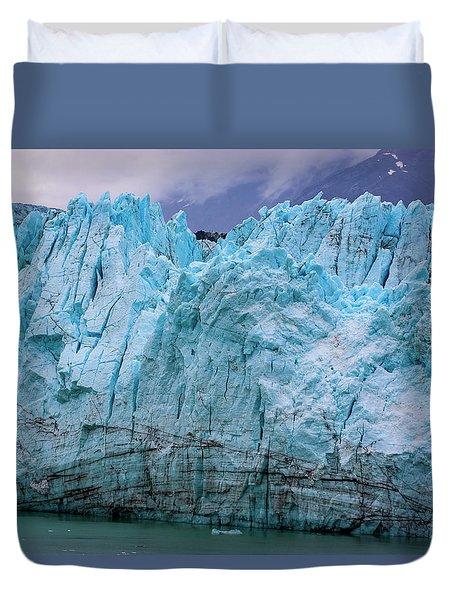 Alaskan Blue Glacier Ice Duvet Cover