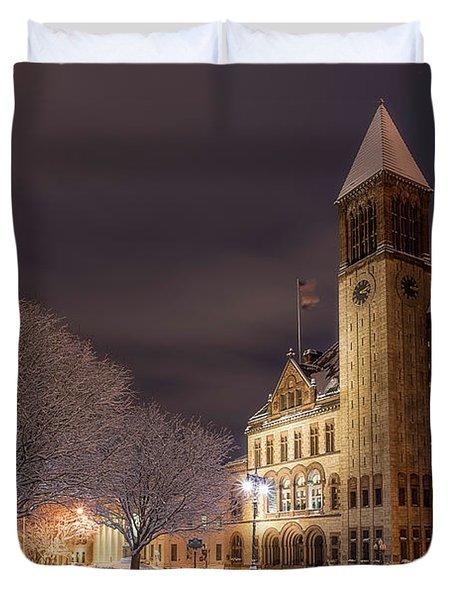 Albany City Hall Duvet Cover