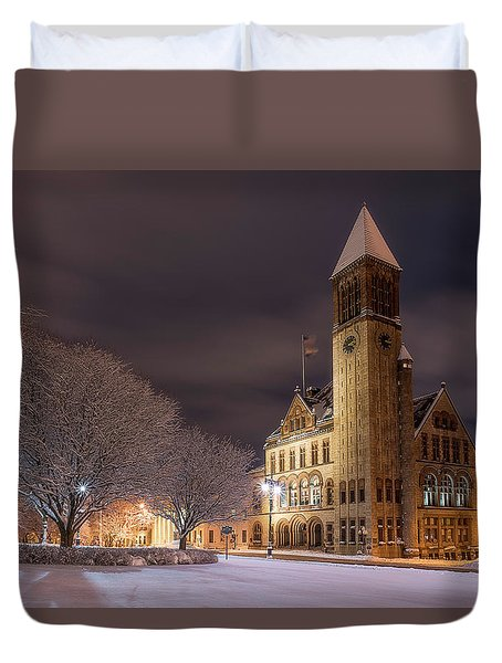 Albany City Hall Duvet Cover