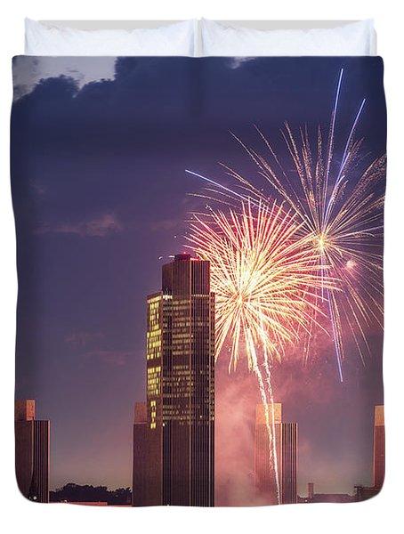 Albany Fireworks 2019 Duvet Cover