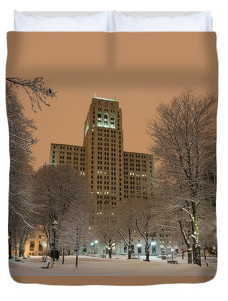 Alfred E. Smith Building Duvet Cover