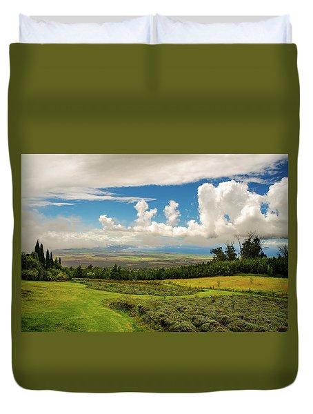 Alii Kula Lavender Farm Duvet Cover