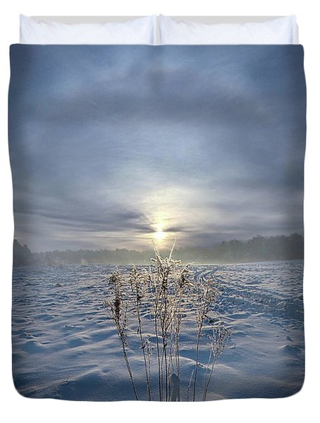 Duvet Cover featuring the photograph All Is Blue For A Time by Phil Koch