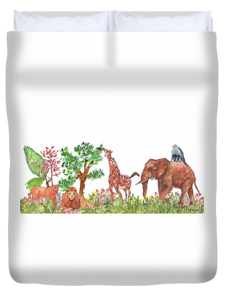 All Is Well In The Jungle Duvet Cover
