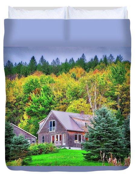 Duvet Cover featuring the photograph All Snuggled In by Lynn Bauer