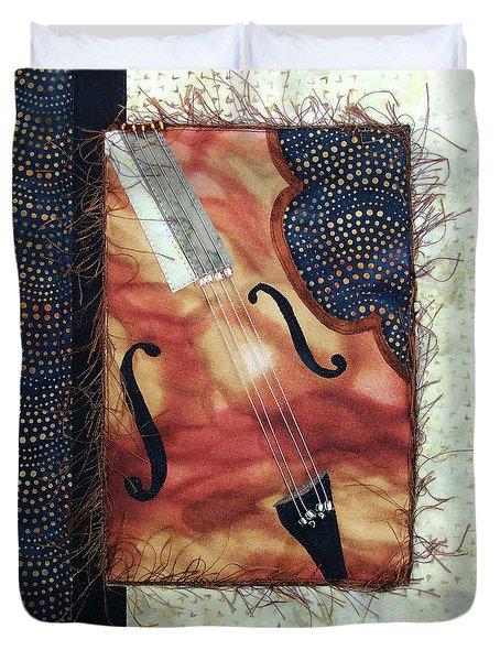 All That Jazz Bass Duvet Cover