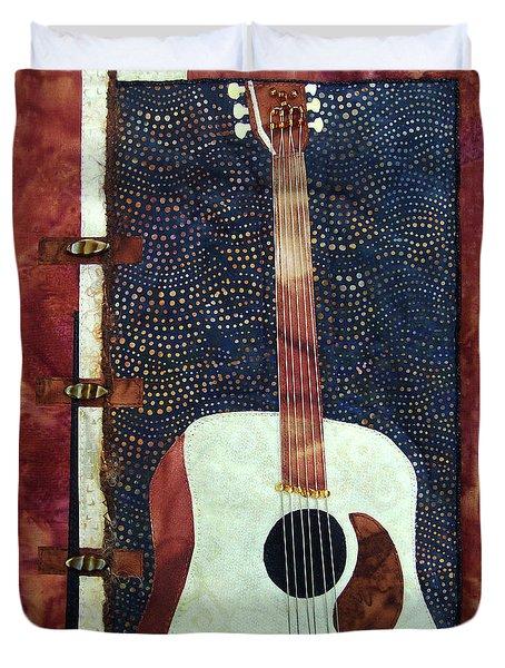 All That Jazz Guitar Duvet Cover