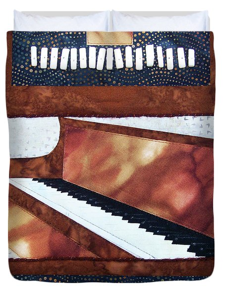 All That Jazz Piano Duvet Cover