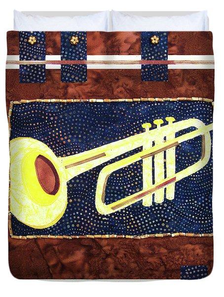 All That Jazz Trumpet Duvet Cover