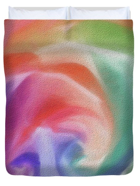 All The Colors Of - Pastel Abstract I.jpg Duvet Cover