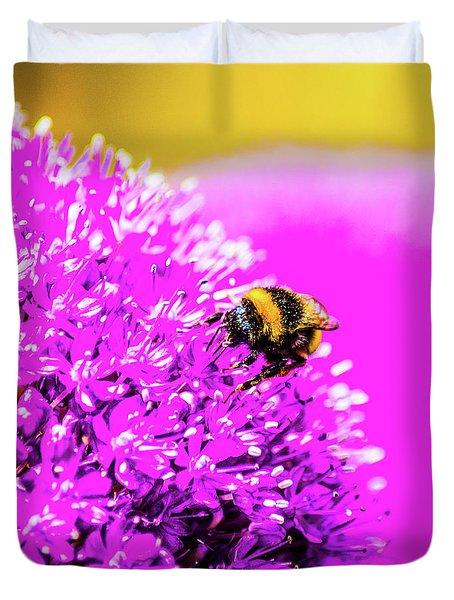 Allium With Bee 2 Duvet Cover