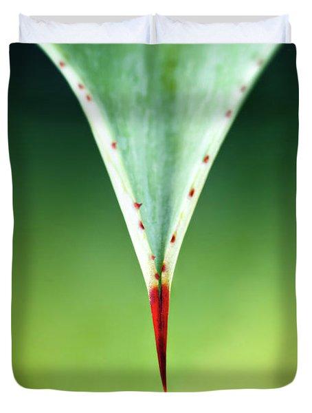 Aloe Thorn And Leaf Macro Duvet Cover