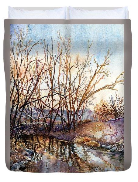 Along Boulder Creek Duvet Cover