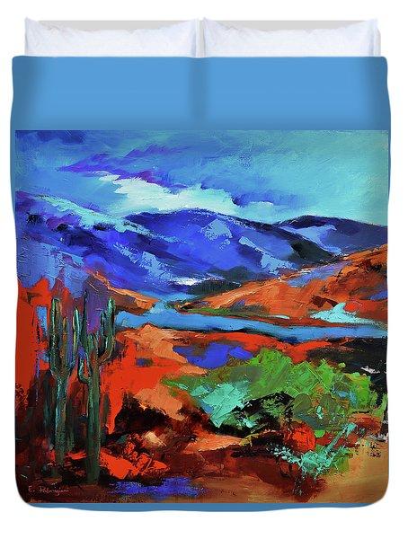 Along The Trail - Arizona Duvet Cover