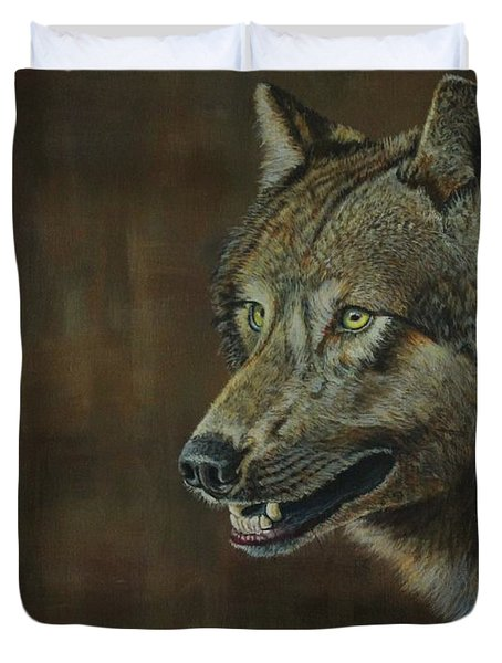 Alpha Male ......the Gray Wolf Duvet Cover