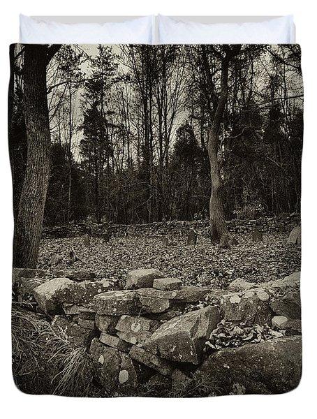 Alpine Benders Cemetery Duvet Cover