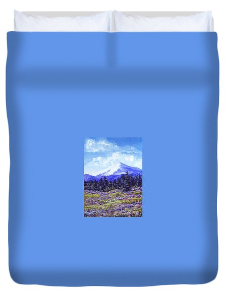Alpine Meadow Sketch Duvet Cover