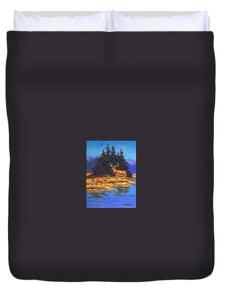 Alpine Refuge Sketch Duvet Cover
