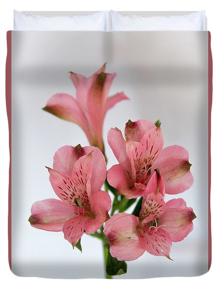 Alstroemeria Up Close Duvet Cover