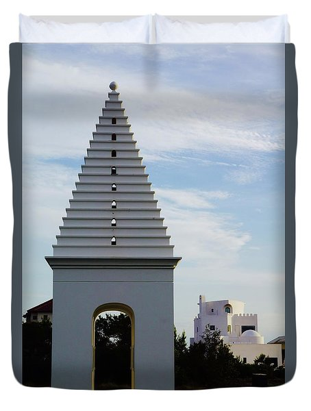 Alys Beach Landmark Duvet Cover