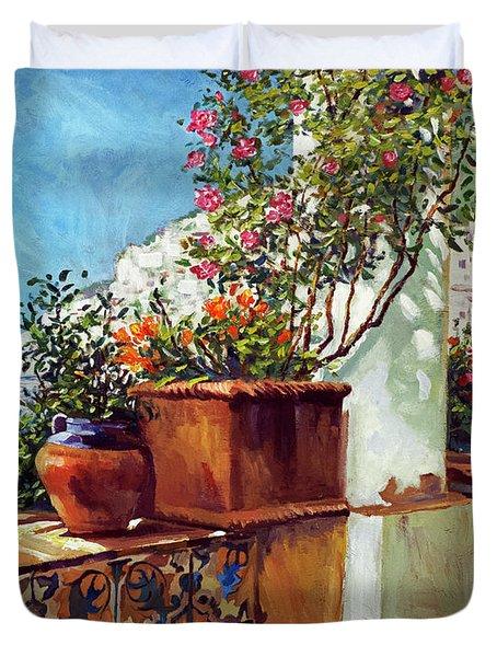 Amalfi Coast Impressions Duvet Cover