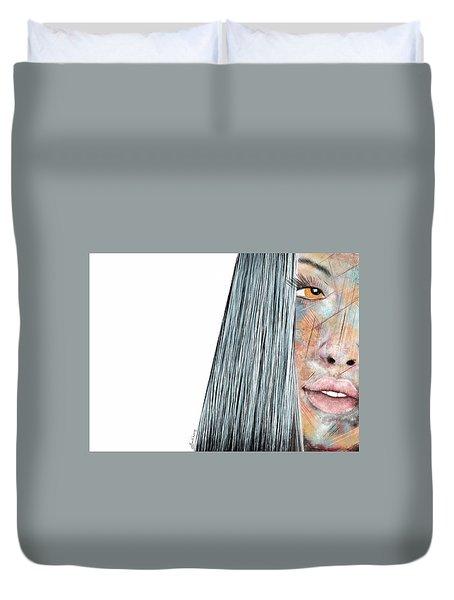 Amber Rose - Woman Abstract Art Duvet Cover
