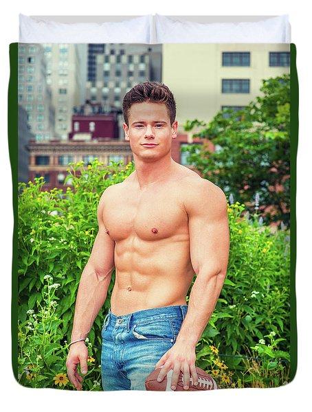 American City Boy.  Duvet Cover