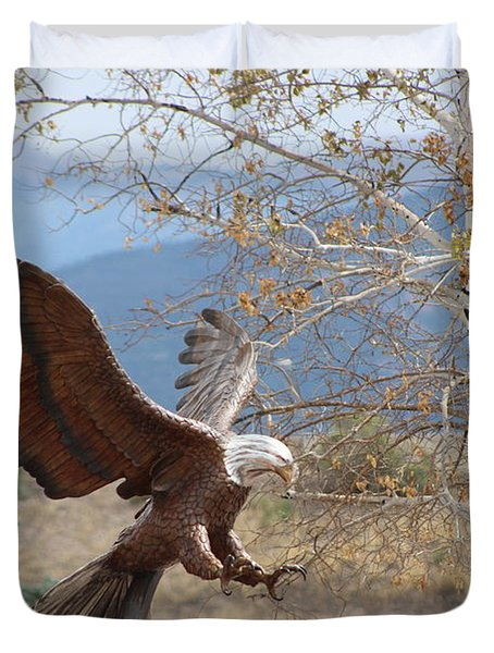 American Eagle In Autumn Duvet Cover