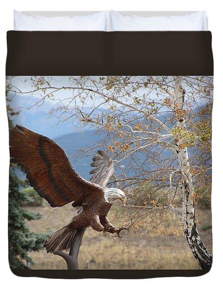 American Eagle In Autumn Duvet Cover