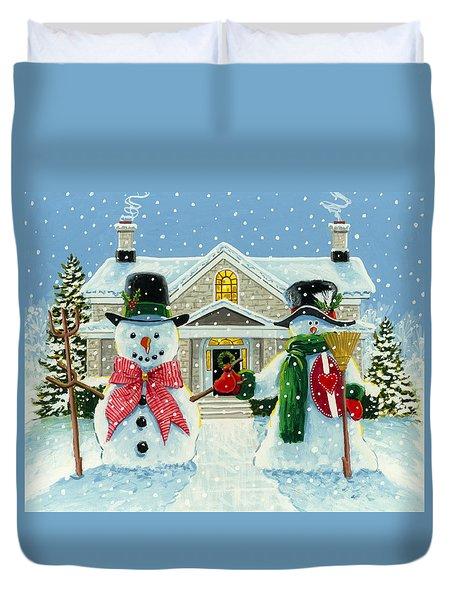 American Snowman Gothic Duvet Cover