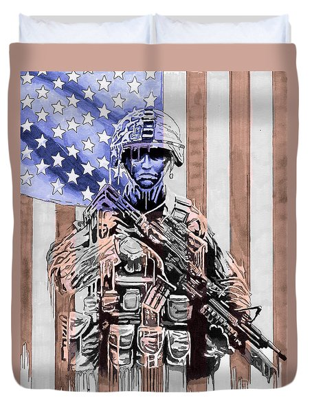 American Soldier Duvet Cover