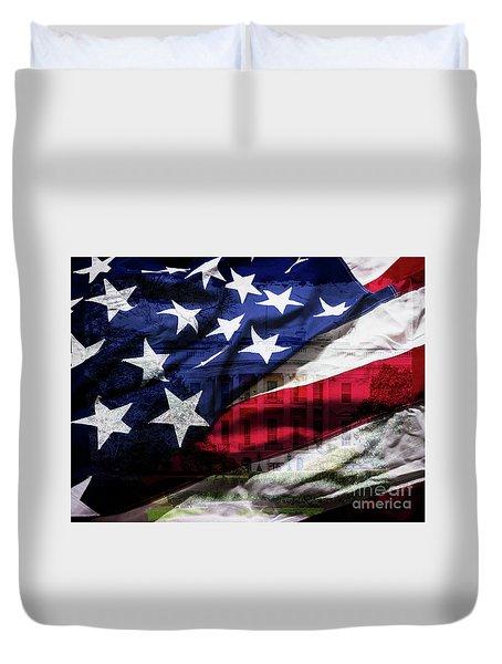 American White House Duvet Cover