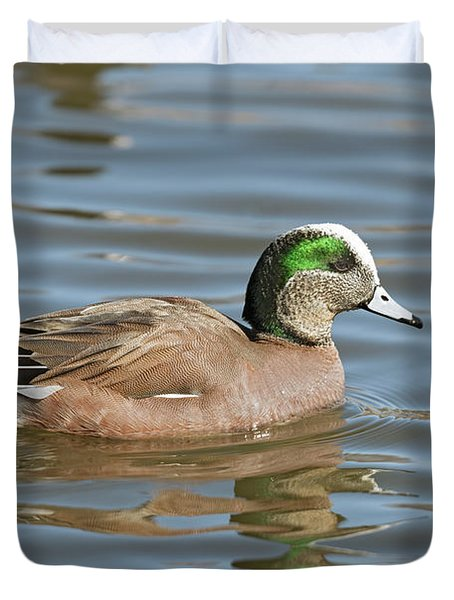 American Wigeon Male Duvet Cover