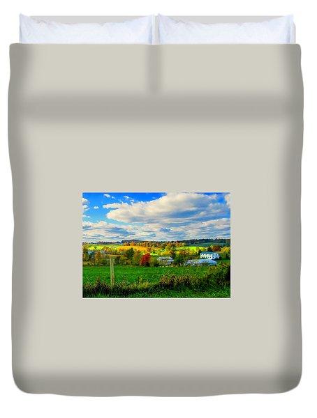 Amish Farm Beauty Duvet Cover