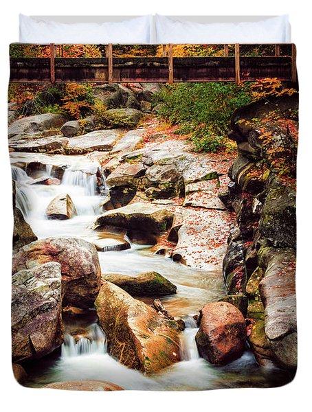 Ammonoosuc River, Autumn Duvet Cover