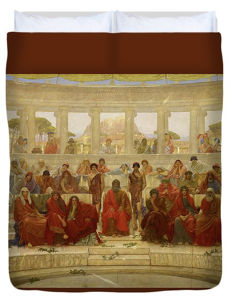 An Audience In Athens During The Representation Of Agamemnon By Aeschylus Duvet Cover