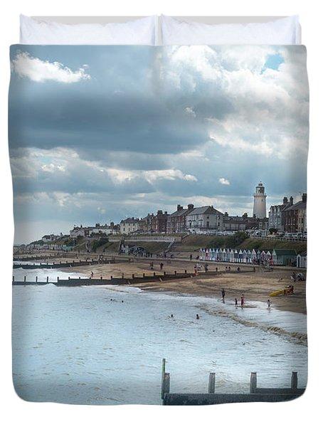 An English Beach Duvet Cover