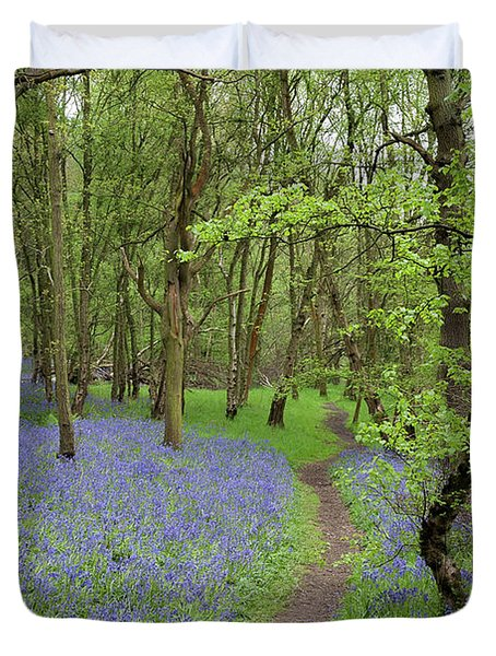 An English Bluebell Wood Duvet Cover