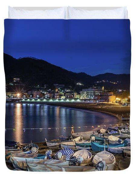 An Evening In Levanto Duvet Cover