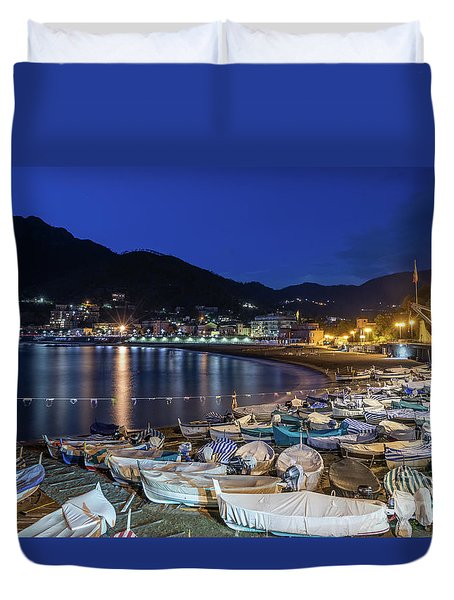 An Evening In Levanto Duvet Cover