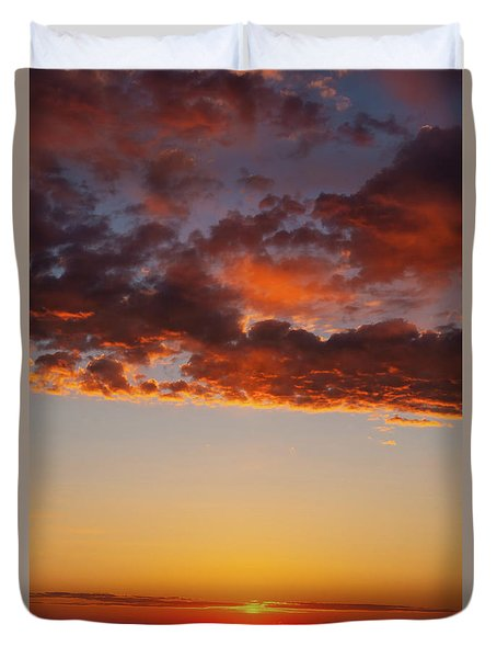 An Oklahoma Sunsrise Duvet Cover