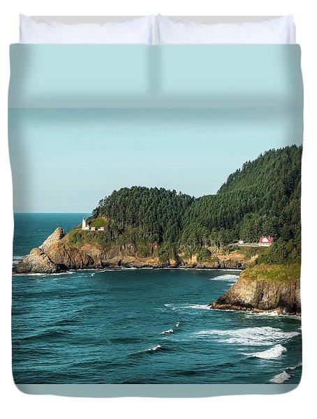 An Oregon Lighthouse Duvet Cover