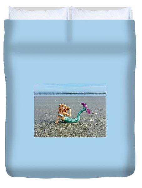 An Unusual Sunbather Duvet Cover