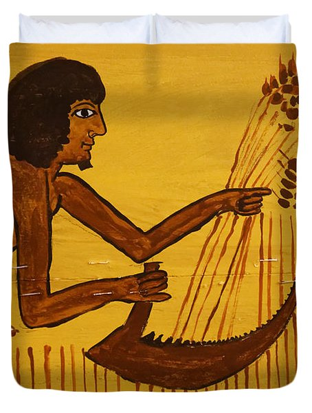 Duvet Cover featuring the photograph Ancient Egypt Farmer by Sue Harper