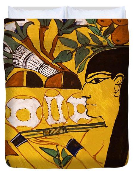 Ancient Egypt Man Duvet Cover
